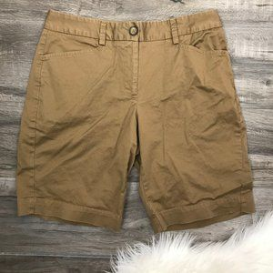 Lands' End Fit 2 Size 4 Brown Bermuda Shorts